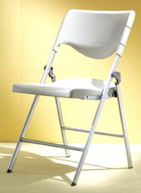 FOLDING CHAIR, PE BLOWING H-PRAME, SLIDER