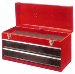 Two Drawer Metal Tool Chest