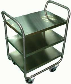 Stainless Steel Shelf Cart with 3 Shelves