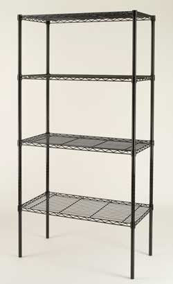 Wire Modular Shelving with many choices of finishs and sizes