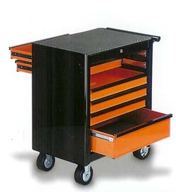 Professional Tool Cabinet with Front-Back Opening Function