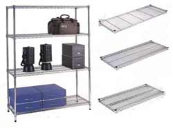 wire shelving: stainless steel
